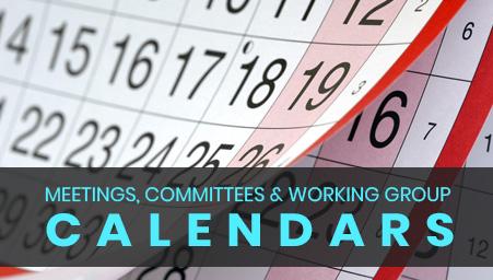 Meetings, Committees and Working Group Calendars
